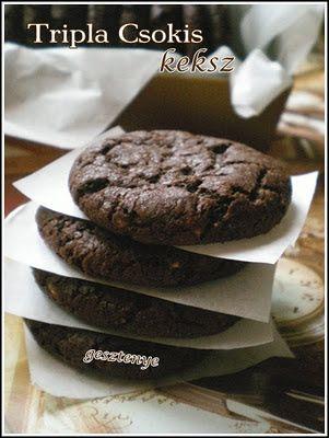 Gesztenye receptjei: Tripla csokis keksz Elif módra