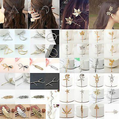 US-DEALS Fashion Damen Gold Silber Geometrie Dreieck Haarnadel Haarspange Haarschmuck: $ 1.99 Enddatum: Samstag Sep-28-2019…% # USDeals%