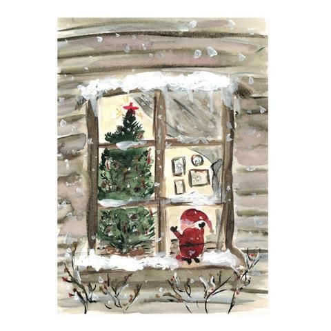 A night before Christmas postcard by NUNUCO® #postcard #nunucodesign #christmas #holiday