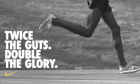 Hitting the ground running: Nike's ad campaign praising Mo Farah's two Olympic gold medal wins