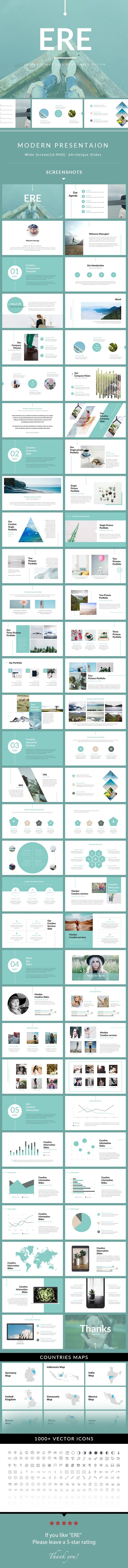 ERE  Modern PowerPoint Template — Powerpoint PPT #marketing #portfolio • Download ➝ https://graphicriver.net/item/ere-modern-powerpoint-template/20243493?ref=pxcr