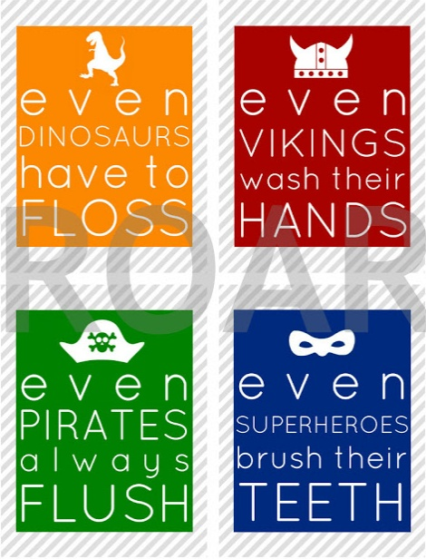 Win a set of these awesome boy bathroom printables at the MOB Society!
