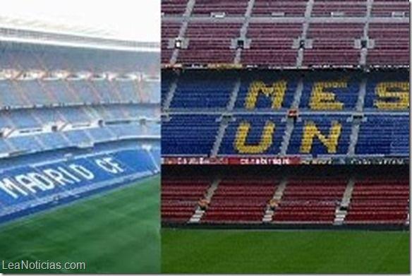 Un Barça-Real Madrid… de los estadios (+ videos) - http://www.leanoticias.com/2014/04/08/un-barca-real-madrid-de-los-estadios-videos/