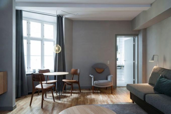 Součástí dostatečně prostorných apartmánů je designově vyšperkovaný obývací pokoj