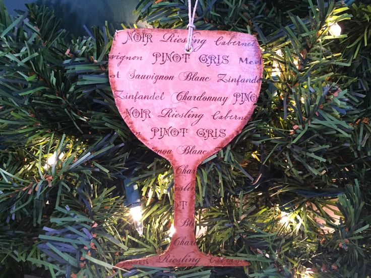 Wine Ornament Gl Christmas Book Page Ornaments