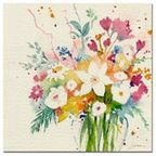 'Vibrant Bouquet' Canvas Art by Sheila Golden - Transitional - Fine Art Prints - by Trademark Global, LLC.