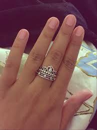 pandora princess tiara ring stack idea