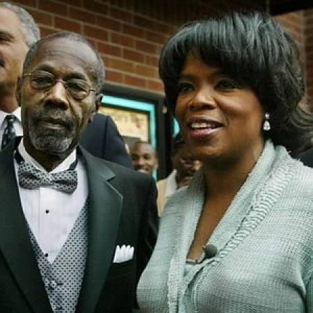 Oprah Winfrey and her Father