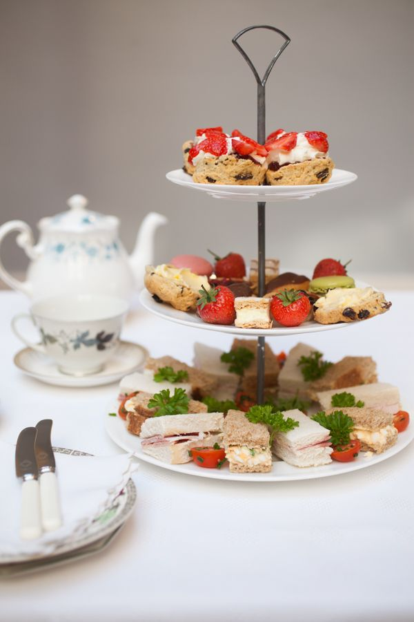 Vintage afternoon tea at the Bar Convent, York, UK... cute little cakes aplenty.