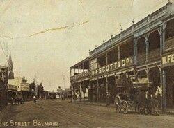 Darling St,Balmain....inner suburb of Sydney (year unknown).A♥W