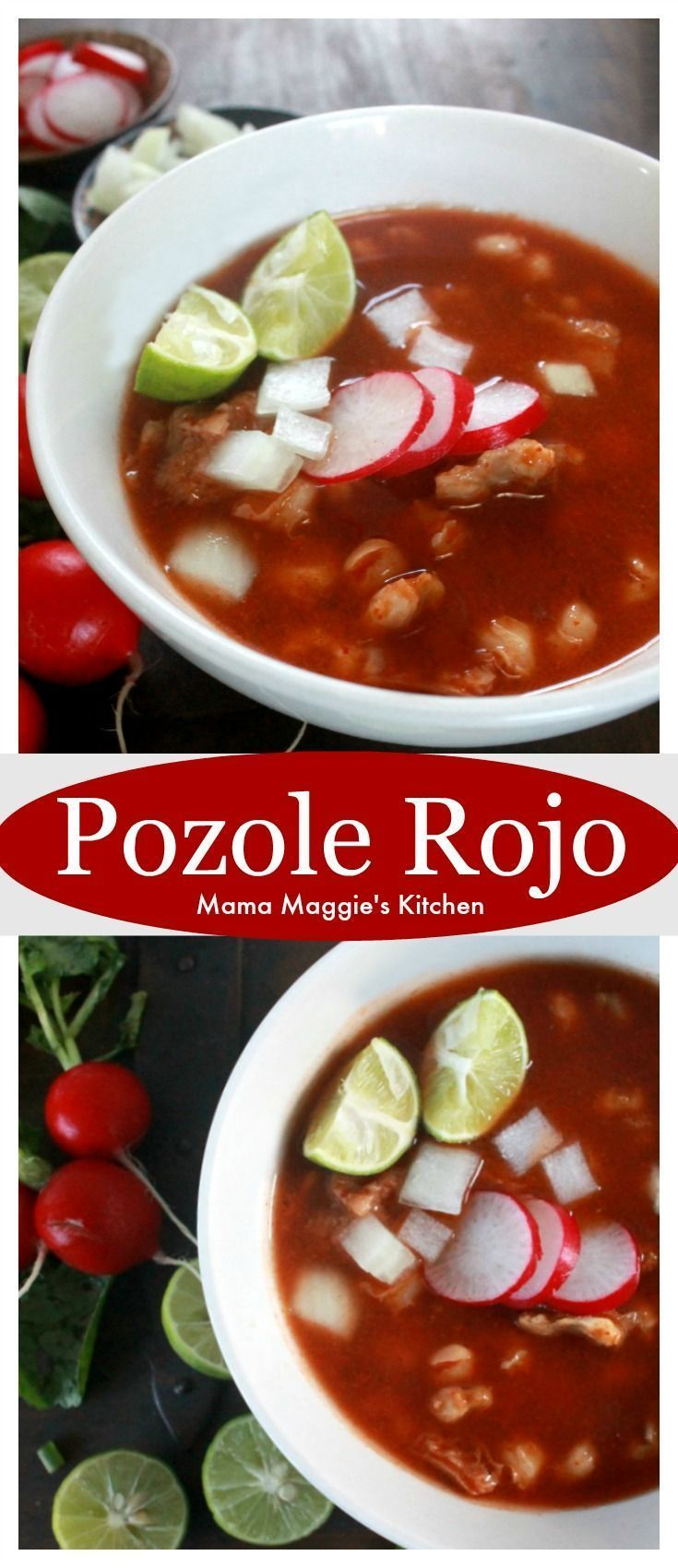 Pozole Rojo is a traditional Mexican stew that is hearty and delicious. By Mama Maggies Kitchen - Sponsored