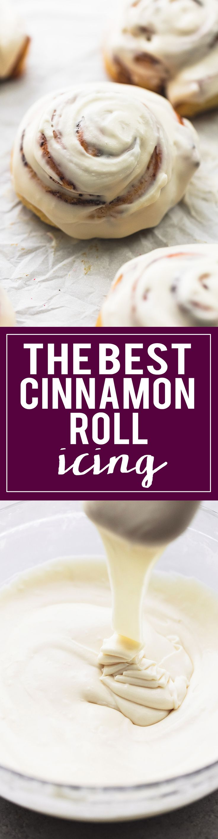 The BEST Cinnamon Roll Icing ever made in 10 minutes with just 5 ingredients and one key step that makes it BETTER than cinnabon!   lecremedelacrumb.com