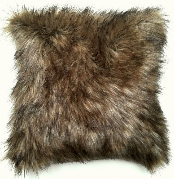 Faux Fur Brown Grizzly Bear Pillow Throw by GatherTextilesDecor on Etsy                                                                                                                                                                                 More