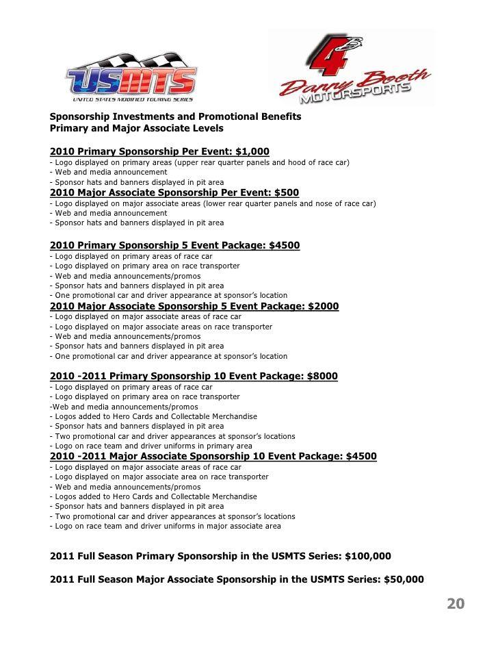 Pisanieprac Info Race Team Sponsorship Agreement Free Here 61889c6c Resumesample Resumefor Sponsorship Proposal Proposal Templates Sponsorship