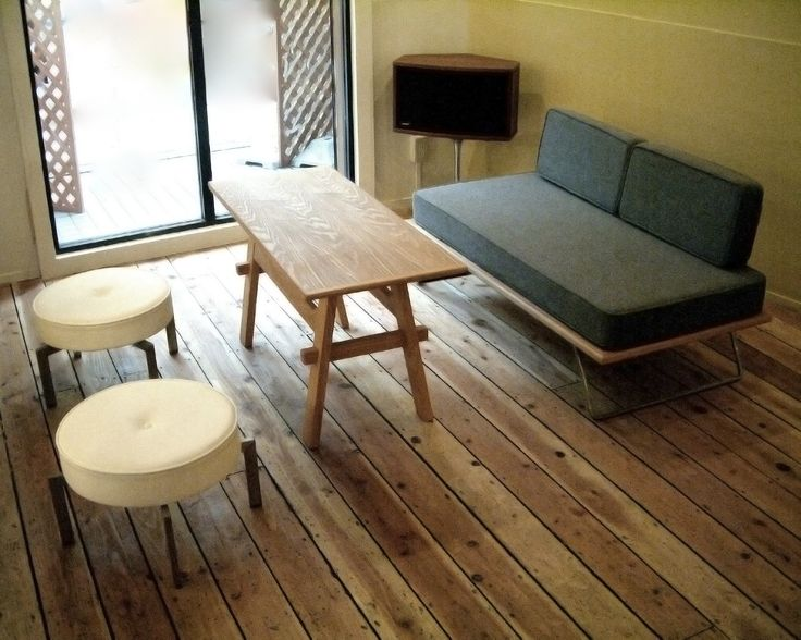 Sofa, sofa table and stools for real estate office in Osaka, JAPAN