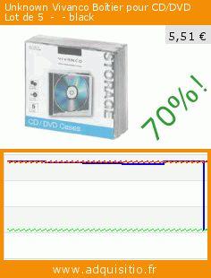 Unknown Vivanco Boîtier pour CD/DVD Lot de 5  -  - black (Accessoire). Réduction de 70%! Prix actuel 5,51 €, l'ancien prix était de 18,58 €. https://www.adquisitio.fr/vivanco/unknown-bo%C3%AEtier-cddvd-lot-0