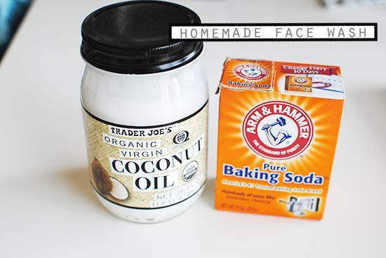 HOMEMADE FACE WASH Just 2 ingredients, coconut oil + baking soda