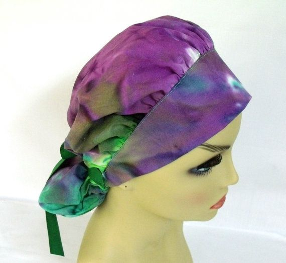 Womens Bouffant Surgical Scrub Hat or Cap Tie Dye by ScrubsbyEdie
