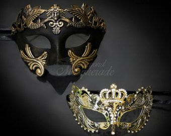 New Couples Masquerade Masks His & Hers Masquerade by 4everstore