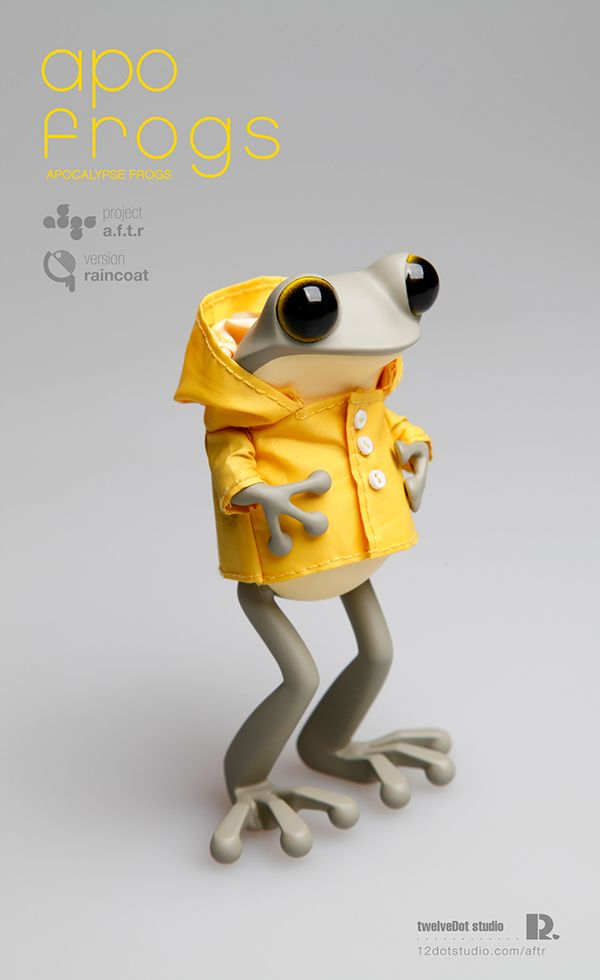 apo frogs : version raincoat on Toy Design Served