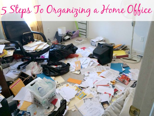 5 Steps To Organizing a Home Office | Organize 365