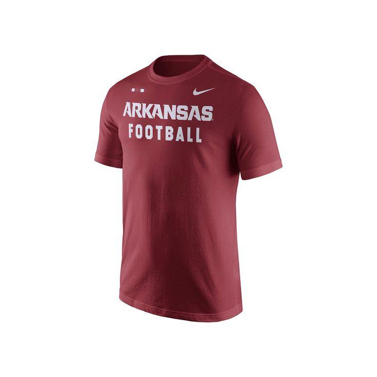 Men's Nike Arkansas Razorbacks Football Facility Tee, Size: Large, Red Other