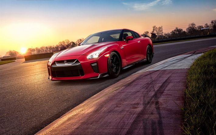 Download imagens Nissan GT-R, 2017, Track Edition, carros de corrida, rodas pretas, Carros japoneses, GTR, Nissan