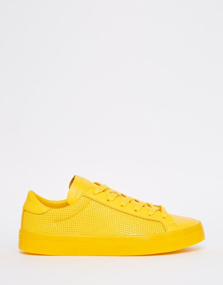 Image 1 of adidas Originals Court Vantage Super Colour Yellow Trainers
