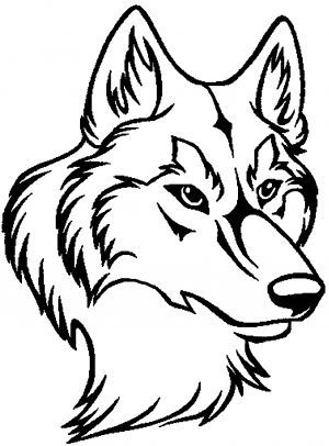 Outline Of A Wolf Head Search Wolf outline Wolf face