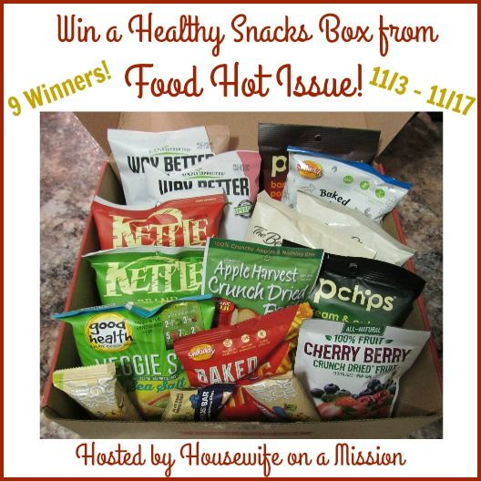 Housewife on a Mission: Healthy Snack Gift Boxes from Food Hot Issue | Review + A Giveaway! #ThankfulNStuffed