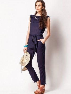 Koovs Embellished Yoke Jumpsuit Jumpsuits One Piece Pinterest
