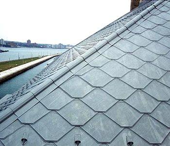 Metal Roofing Tile, CastleTop Style, Specify COLOR (case/39)   Aluminum Metal  Roofing Tiles, CastleTop Style. Unique, Diamond Shaped Aluminum Metalu2026