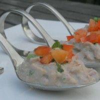 Amuses met crème-paté en rode paprika : Recepten van Domy