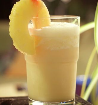 Pina Colada - White Rum - 1/2 cup + Coconut Milk - 1/2 cup + Pineapple Juice - 1 cup + Soda Water + Ice cubes