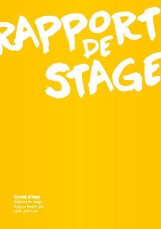 Rapport de stage  Poste de directeur artistique junior dans l'agence New Vista.