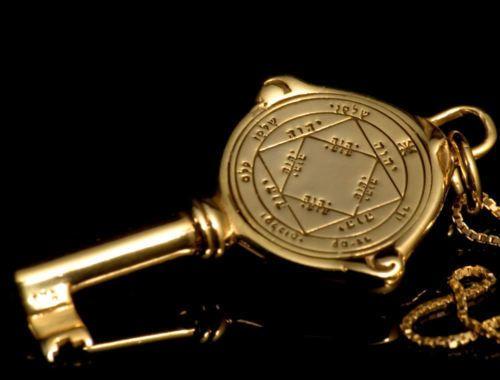 Kabbalah King Solomon 3rd Pentacle Of Sun Gold Silver