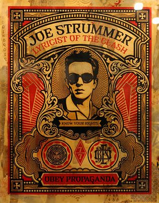 J. Strummer - Shepard Fairey Obey Psychedelic Hippie Peace Art Poster ~ ☮~ Shepard Fairey is a street artist. ☮ psychedelic, hippie art, revolution OBEY style, street graffiti, illustration and design. ☮