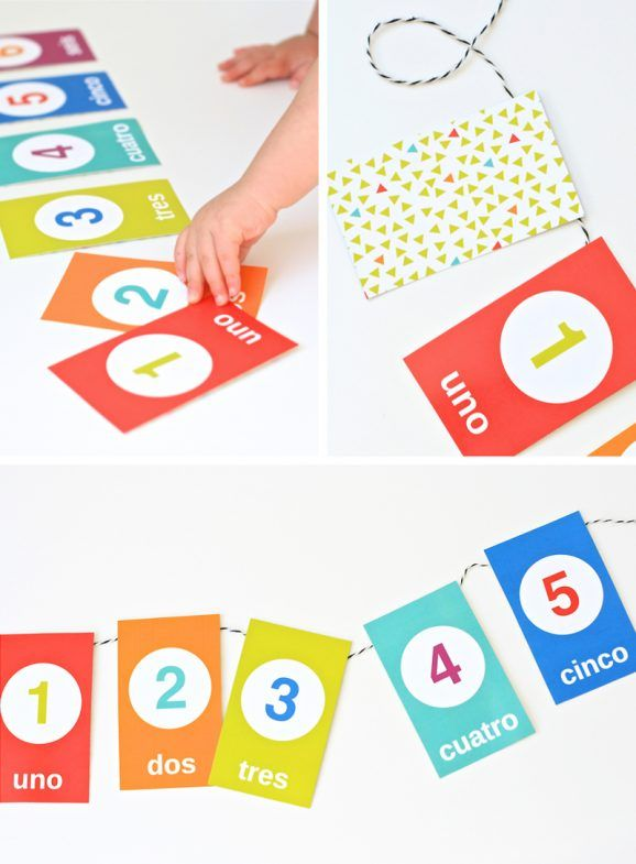 Spanish Counting Flashcards for Cinco de Mayo