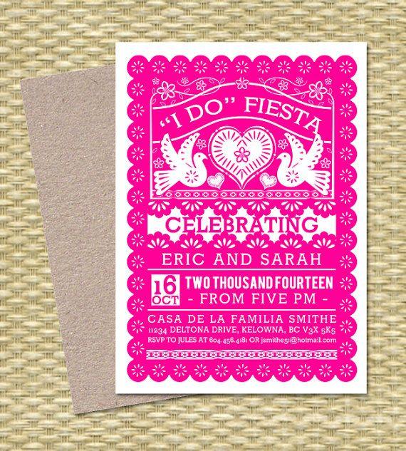 Papel Picado I Do FIESTA Invitation Couples by SunshinePrintables