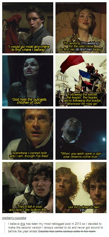 Disney Les Mis... Eponine's is kinda heartbreaking AND SO ARE THE LAST TWO <<< I don't know I laughed at the last two so I guess that makes me cruel and sick :P