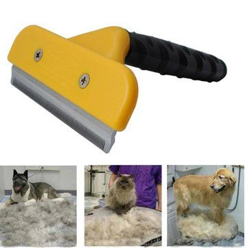 Dog Cat Shedding Tool Brush Comb Professional Pet Rake - US$5.39