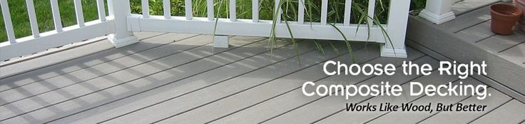 Composite Decking Materials - Composite Railing Products | ChoiceDek