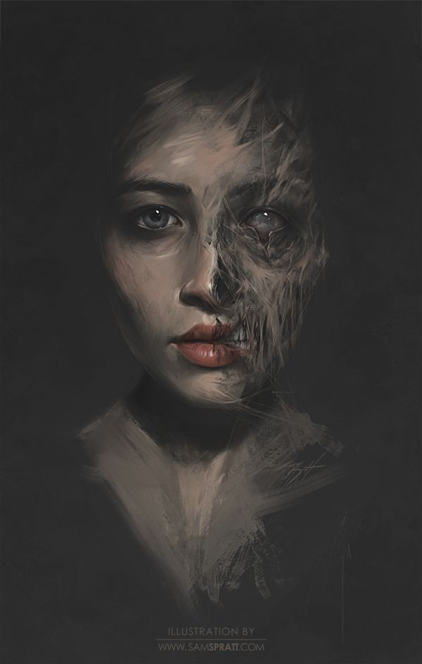 Beauty/Decay Study - by Sam Spratt.   This reminds me of Hel.
