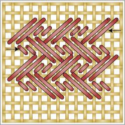 Directionless Stitch. This is the DOUBLE ALTERNATING NOBUKO. csf