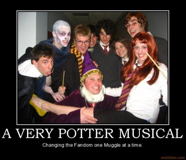 """fun fact: i had the chance to audition for """"a very potter musical"""" i chickened out.  ultimate life fail."""