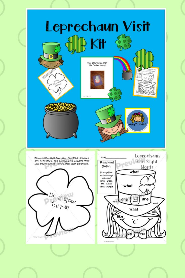 St. Patrick's Day will be filled with sight words, numbers and reading fun as your children find the Leprechaun's clues!  This all inclusive kit will provide a day of fun, excitement and learning!   Included in the kit: •Directions to set up your kit •Mor