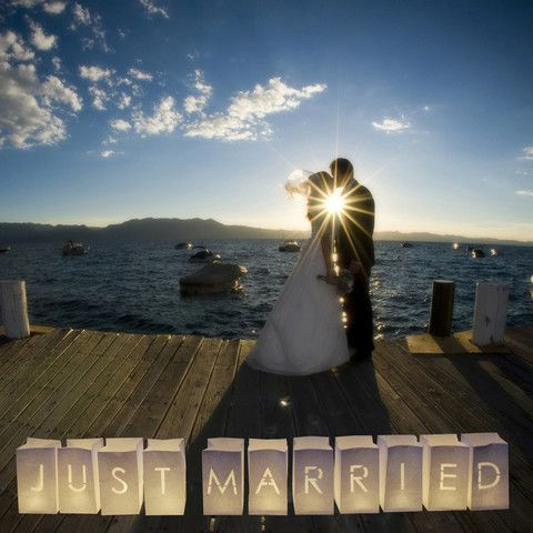 The Wedding of My Dreams - Just Married Wedding Sign Paper Lanterns