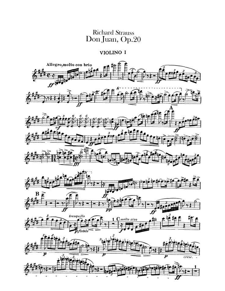 R. Strauss-Don Juan - Violin 1 Part-SheetMusicTradeCom