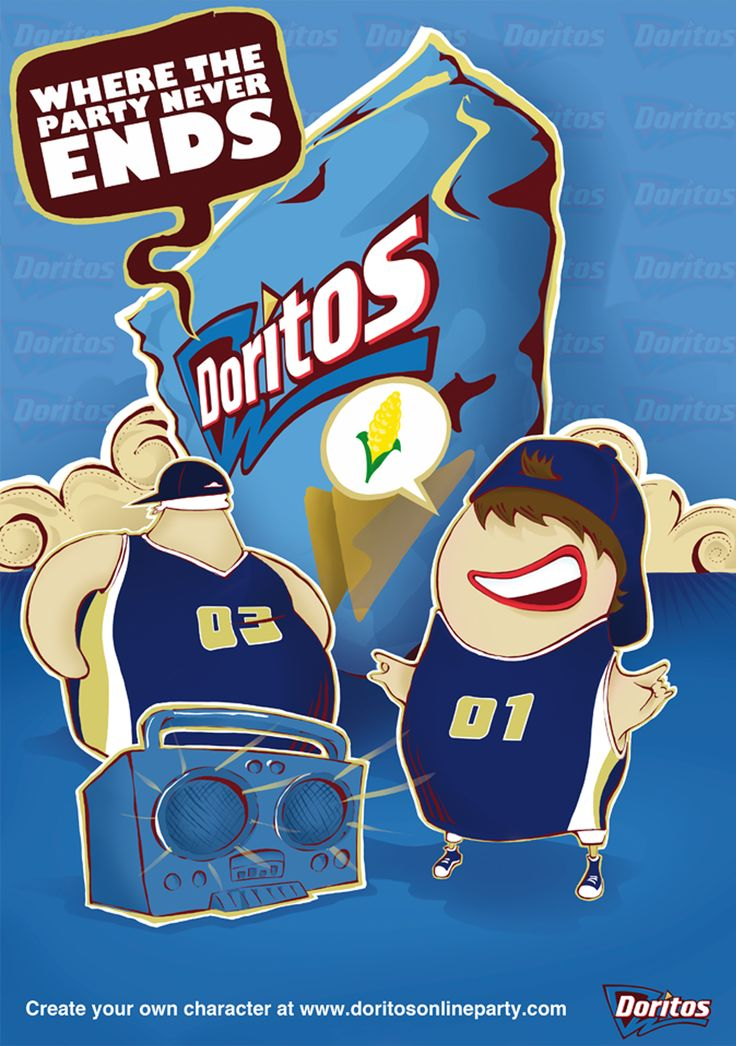 "We love Creative Illustration @ www.emblem.ie Come see our ""Doritos"" advertisement creative illustration work"