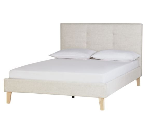 Buy Collection Brianna Small Double Bed Frame - Natural Fabric at Argos.co.uk, visit Argos.co.uk to shop online for Bed frames, Beds, Bedroom furniture, Home and garden